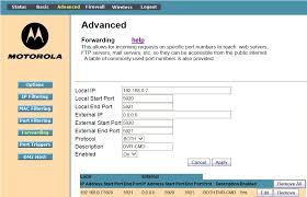 motorola 6580. motorola sbg6580 port forwarding external ip 6580 m