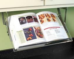 Under Cabinet Mounted Cookbook Holder - Acrylic - Made in the USA product  image