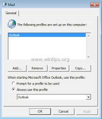 Create Outlook How To Create A New Outlook Profile And Import Outlook Data