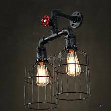 industrial lighting for home.  Lighting Black Pipe Lighting Iron Lights Stunning Fashion Style Wall  Sconces Industrial Home Interior Diy Chandelier In For
