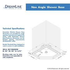 Simple Corner Shower Stall Dimensions H To Decorating