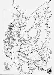 free printable fairy coloring pages for adults. Exellent Fairy Free Fairy Coloring Pages For Adults In Printable A