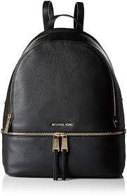 com michael michael kors rhea zip large leather backpack black michael kors shoes