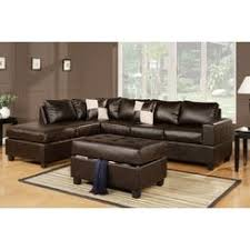 brown leather sectional couches. Hollywood Decor Lombardy Sectional Sofa In Bonded Leather With Free Ottoman · Black White Brown Couches