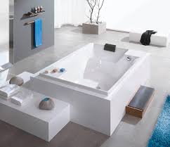 built in bathtub acrylic double deep santee 6652 by adolf l