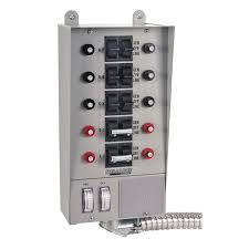 shop generator transfer switch kits at lowes com reliance 50 amp 10 circuit transfer switch