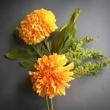 Paper Make Flower How To Make Marigold Paper Flower The Paper Heart
