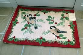 c f enterprises hand hooked 2 x 3 100 wool door mat with birds 8246141853