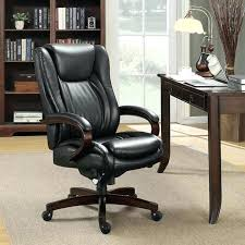 la z boy coffee brown bonded leather executive office chair