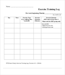 Weight Training Record Sheet Exercise Log 9 Free Pdf Documents Download Free Premium Templates