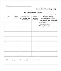 Exercise Log 9 Free Pdf Documents Download Free Premium Templates