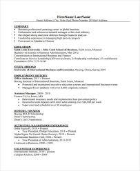 20 Modern Business Resume Templates Pdf Doc Free