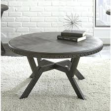 36 inch round outdoor coffee table grey wood metal inch round industrial coffee table by living