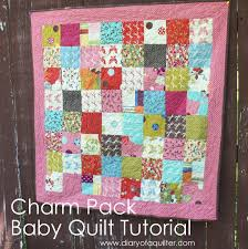 Charm-pack baby quilt tutorial - Diary of a Quilter - a quilt blog & Charm-pack baby quilt tutorial Adamdwight.com