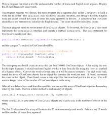 Solved Write In Java Write A Program That Reads A Text F