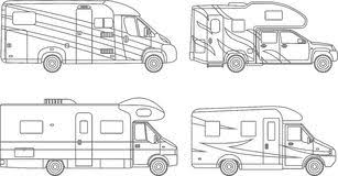 Small Picture Modern Flat Camper Van Stock Vector Image 73582082