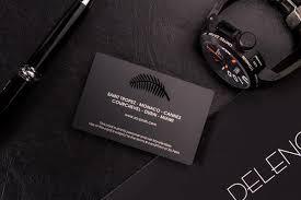 Black Metal Business Cards Luxury Printing