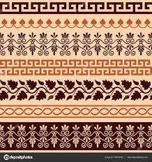 греческие узоры древний греческий орнамент бесшовный набор