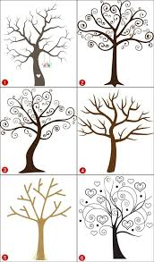 Aliexpresscom  Buy Hot Canvas Wedding Tree Fingerprint Guest Fingerprint Baby Shower Tree