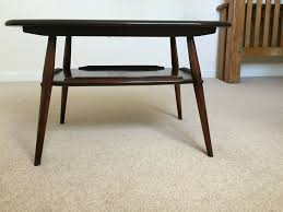 details about pretty old colonial vintage styled ercol coffee table with under tray