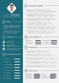 Plantilla Curriculum Vitae Cv Ignacio Santiago Pinteres