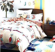 twin owl bedding artistic sheets pink set target