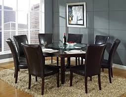 Black Round Dining Table And  Chairs Starrkingschool - Dining room chair sets 6