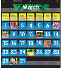 Learning Resources Birthday Pocket Chart Pocket Chart Monthly Calendar Black By