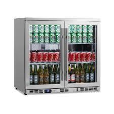 Undercounter Beverage Refrigerator Glass Door Amazoncom Kingsbottle 169 Can 2 Door Under Counter Beverage