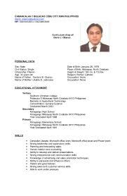 Sample Resume For A Call Center Agent Resume For Study
