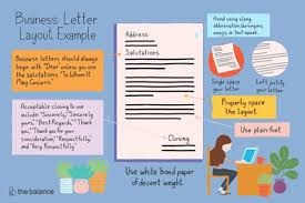 Classic Business Letter Format Business Letter Layout Example
