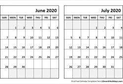June July 2020 Calendar July 2019 June 2020 Calendar Printable Calvert Giving