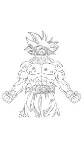 Goku Lineart Free Download On Ayoqqorg