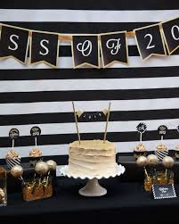 black and gold graduation party graduation of school party ideas