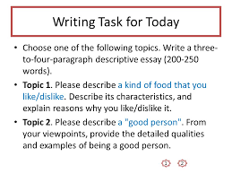 Descriptive Essay Food Unit 2 Descriptive Essays Ppt Video Online Download