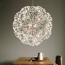lanshi creative crystal dandelion chandelier remote control home lighting pendant lamp