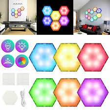 6Pc квантовая лампа <b>RGB</b> светодиодный шестигранный ночник ...