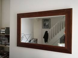 simple framed dark wood wall mirror large framed in victoria park cardiff and l