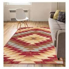 miami alamo southwestern traditional red 8 ft x 10 ft area rug