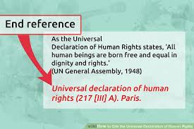 ways to cite the universal declaration of human rights wikihow image titled cite the universal declaration of human rights step 3