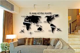 wall art decal world map wall sticker globe earth wall decor for kid s room home