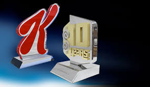 Employee Of The Month Trophy Custom Awards Plaques And Trophies Awards Com