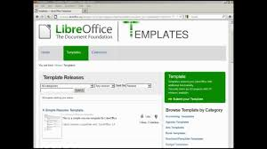 Libreoffice Writer 63 Adding An On Line Template Youtube