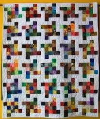 140 best Quilts to make ideas images on Pinterest | Crafting ... & Another Postage Stamp quilt! Moore About Nancy: Flying Squares quilt block Adamdwight.com
