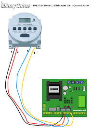 wiring diagram for connecting th827 24 timer to liftmaster cb11 timer wiring diagram diagram for connecting th827 24 timer to liftmaster cb11 control panel