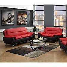 red and black furniture. gtu furniture contemporary bonded leather sofa u0026 loveseat set and red black