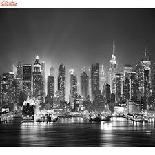 image is loading new york city night skyline photo wallpaper black