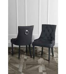 torino dining chair with back ring black velvet legs in black finish