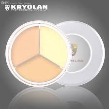 whole kryolan mask make up waterproof concealer paleta de corretivo three color foundation briten cream contour palete foundation for oily skin full
