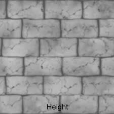 brick wall texture 3d model